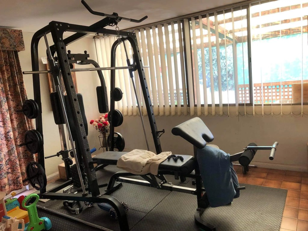 Home gym smith machine setup