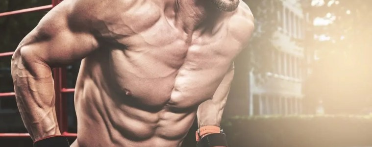 Defined muscles