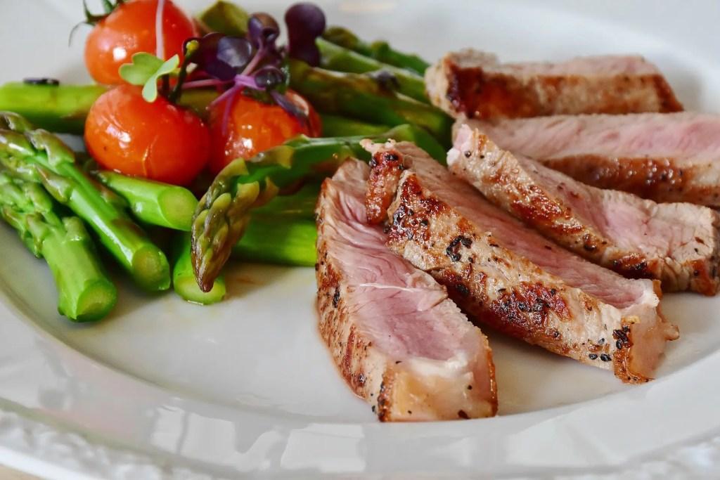 High protein steak