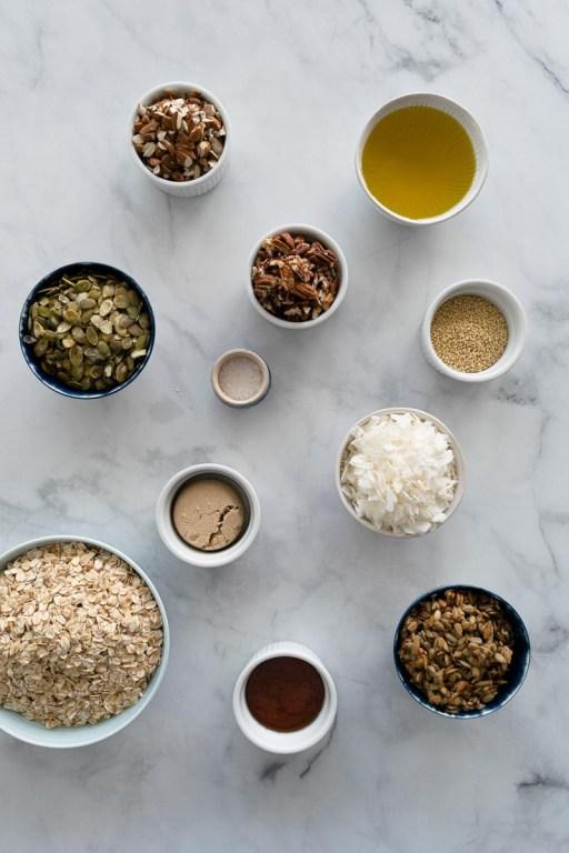 Olive oil granola ingredients