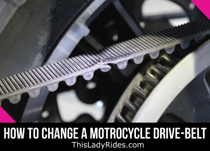 how to change the drive belt on a motorcycle