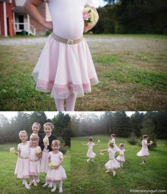 Zelda-themed Flower Girl tutus {this lemon yogurt}