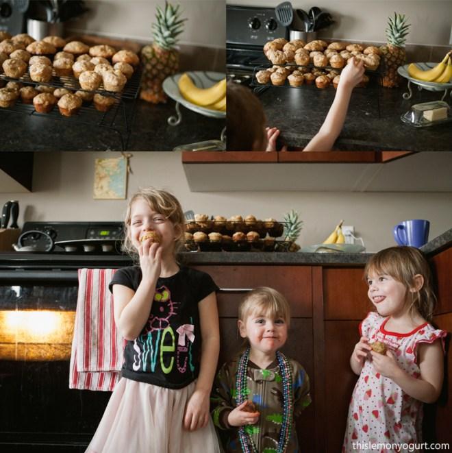 Pineapple Banana Muffins {this lemon yogurt}