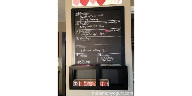 Chalkboard weekly schedule {this lemon yogurt}