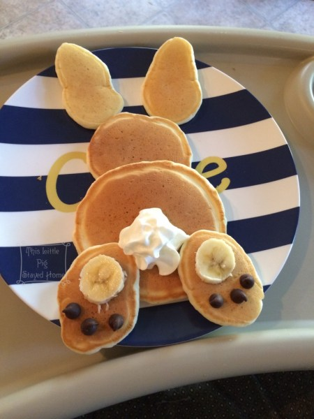 bunny pancake banana chocolate chips