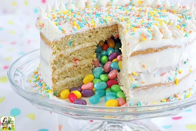 Gluten Free Surprise Inside Jelly Bean Cake This Mama