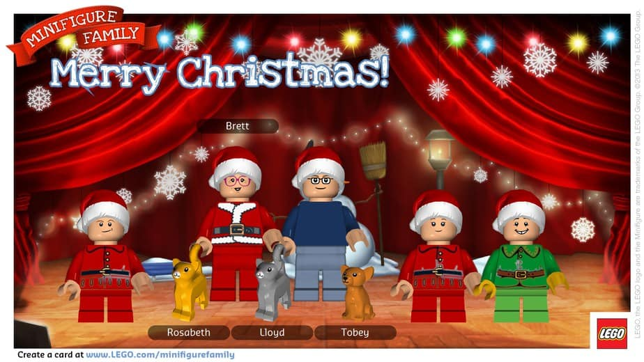 Have A Very LEGO Minifigure Family Christmas