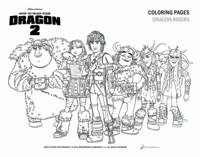 hiccup httyd 2 coloring pages