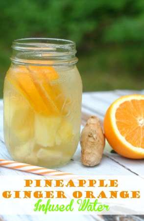 pineapple ginger, and orange healthy infused fruit water- thismamaloves.com