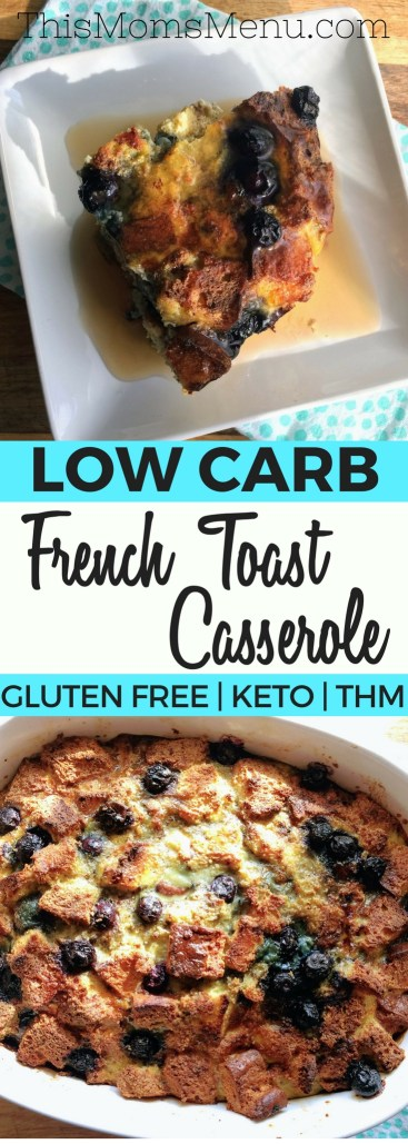 This low carb French toast casserole makes the perfect breakfast. Prep it in the evening and bake it in the morning for a simple, but delicious treat that everyone will love. You can even prepare it in a muffin pan for a super easy meal prep! #keto #lowcarb