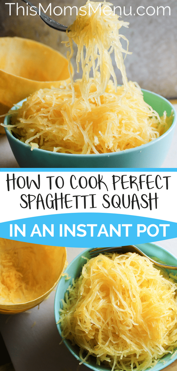 Spaghetti squash is a staple on many low carb diets. It makes a great stand in for pasta, but is great as a stand alone dish as well. Cook it in the instant pot to save a ton of time and to ensure a perfect result every time. #spaghettisquash #instantpot