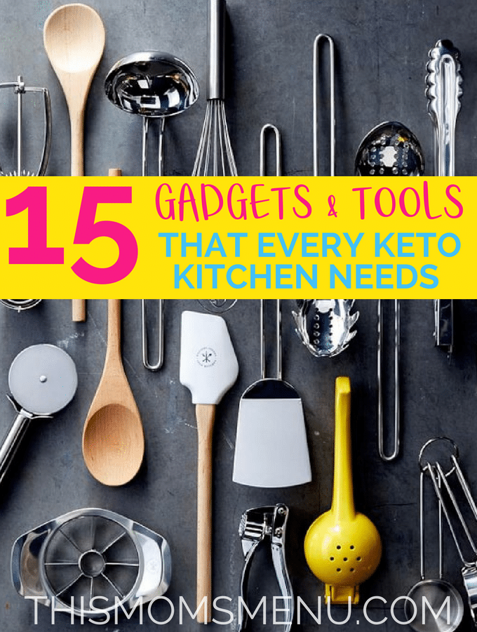 This list of kitchen gadgets and tools are some of the things that make the extra kitchen time just a little bit easier #keto #kitchengadgets