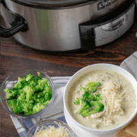 Chicken Broccoli Alfredo Soup | Keto, Crock Pot