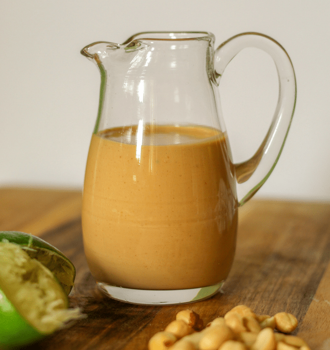Creamy Thai Peanut Salad Dressing