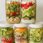 Easy, low carb Mason Jar Salads