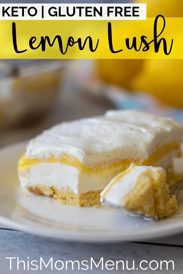 Keto lemon lush dessert pinterest image
