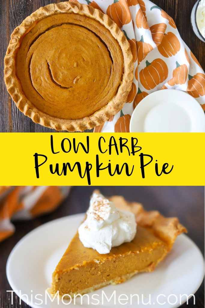 Low Carb pumpkin pie photo collage with text overlay