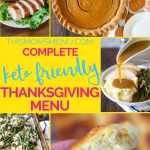 keto thanksgiving menu image collage with text overlay