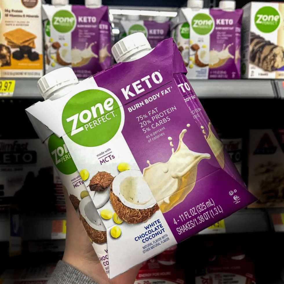 ZonePerfect Keto Shake on the shelf at Walmart