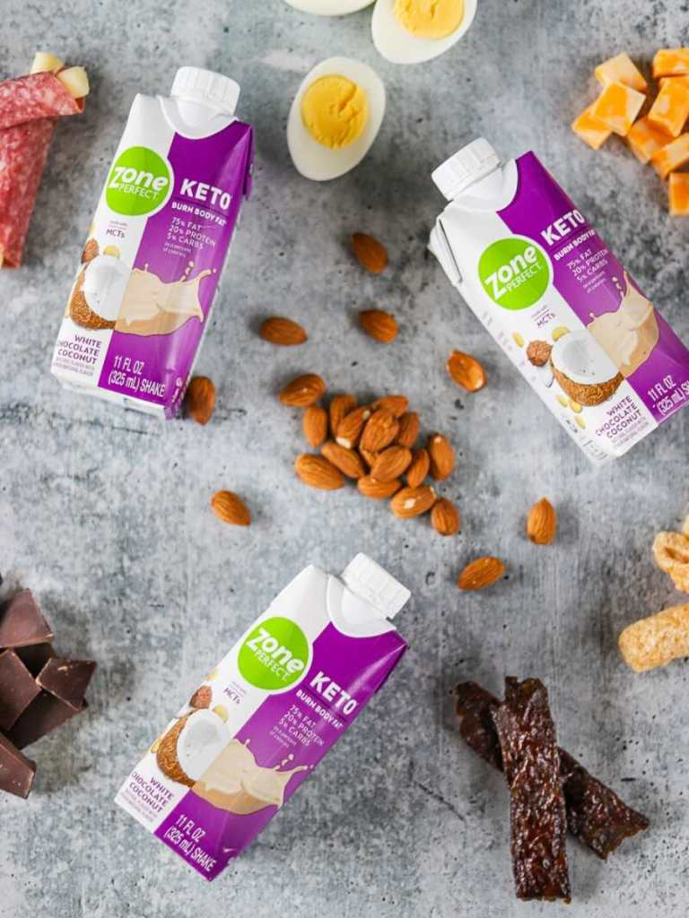 grab and go keto snacks from walmart on a grey background