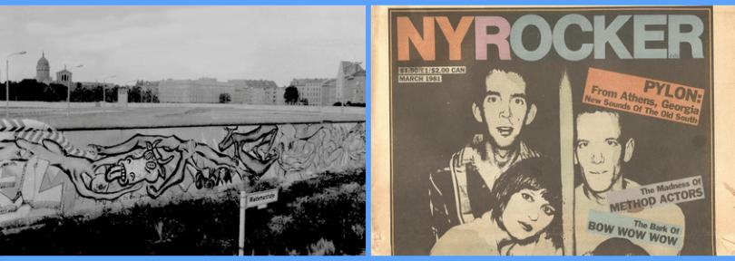 Berlin Wall and Athens, GA band Pylon