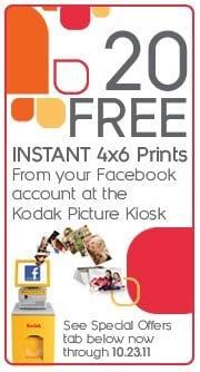 Kodak: 20 FREE 4x6