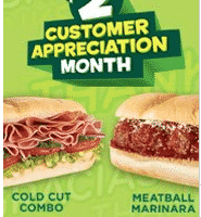 *HOT* Subway Customer Appreciation Month: $2 Subs!!