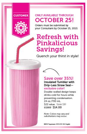 Pink Tumber through 10.25.13 only
