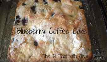 Blueberry Coffee Cake! #recipe #blueberry