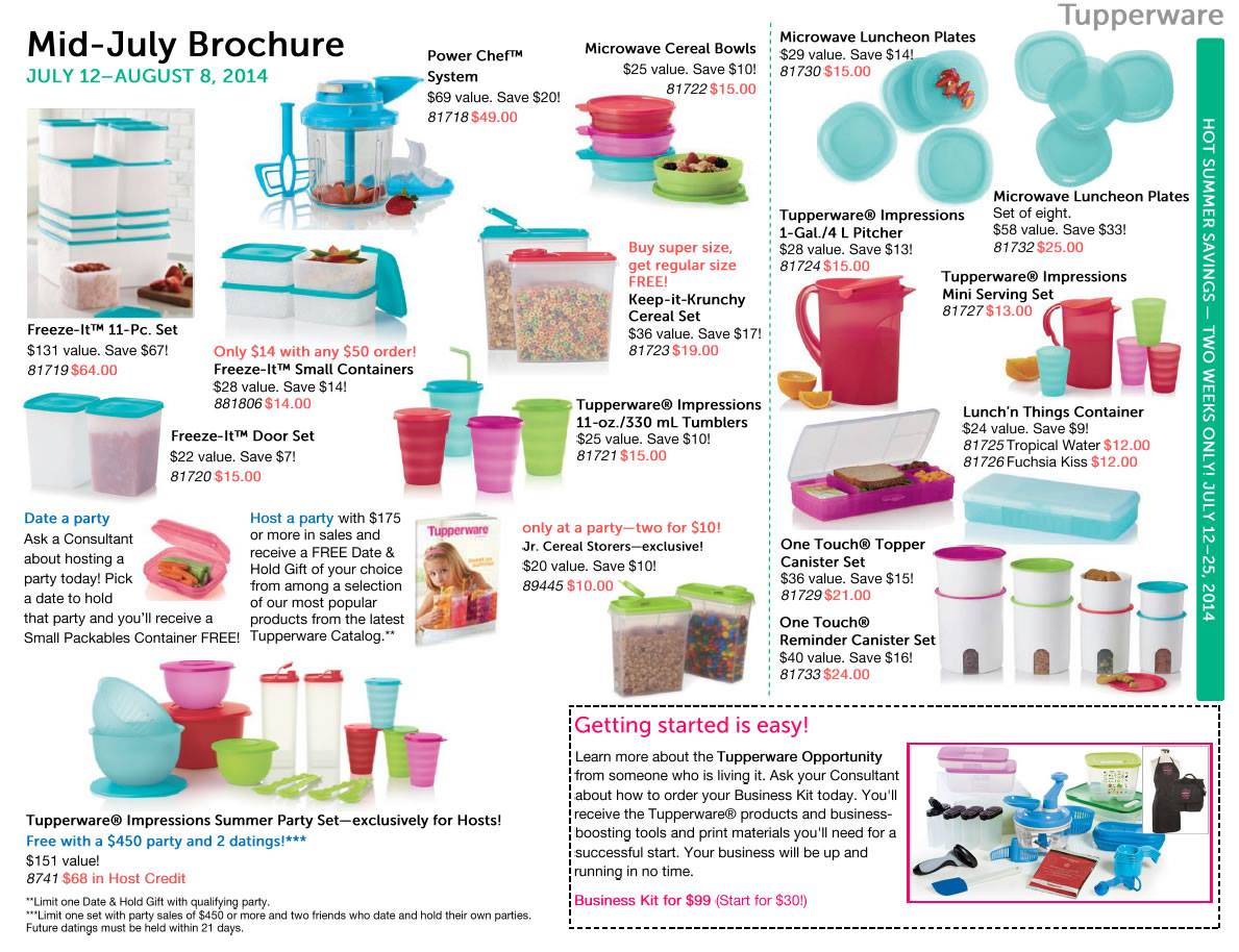 Tupperware July 2018 Flyer Dolap Magnetband Co