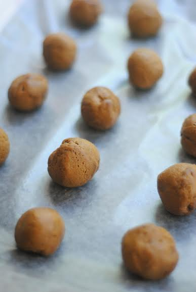 White Chocolate Gingersnap Pumpkin Truffles! #Fall #Pumpkin