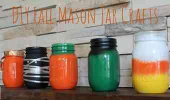 DIY Fall Mason Jars Craft! #12daysof
