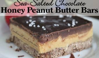 Sea-Salted Chocolate Honey Peanut Butter Bars #12daysof