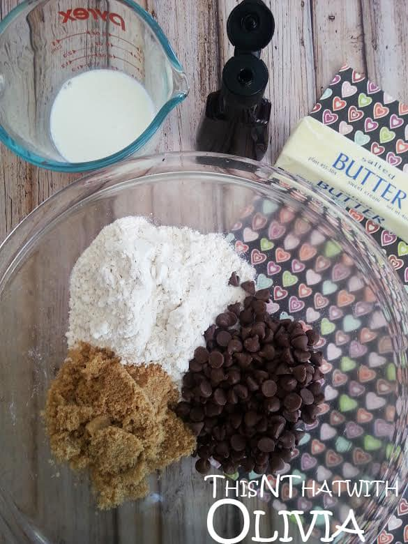 Cookie Dough Heart Ingredients