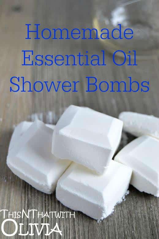 Homemade Essential Oil Shower Bombs!