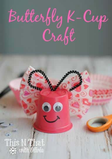 Butterfly K-Cup Craft | ThisNThatwithOlivia.com