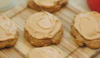 Apple Spice Cookies with Caramel Apple Frosting!