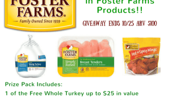 Enter to win $100 in Foster Farms Products | ThisNThatwithOlivia.com