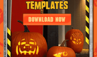 Free Dinotrux Pumpkin Carving Templates + Recipe #Dinotrux