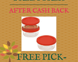 NEW TopCashBack Members: Completely FREE Pyrex 6 Piece Storage Set After Cash Back!