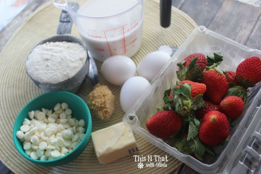 Strawberry White Chocolate Pancake Muffins | ThisNThatwithOlivia.com