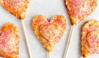Cherry Pie Heart Pops #12DaysOf
