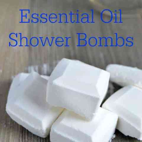 Homemade Essential Oil Shower Bombs! #EssentialOils