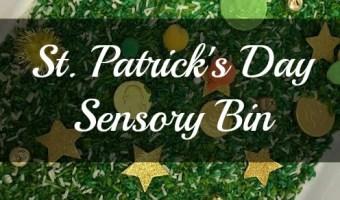 St. Patrick's Day Sensory Bin! #Sensory #Play #DIY