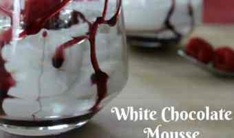 White Chocolate Mousse with Reduction Dessert Sauce! #12daysof