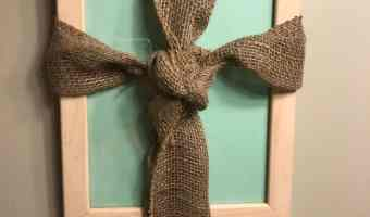 Cross Picture Frame Craft for Easter #12DaysOf