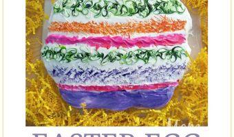 Easter Egg Pull Apart Cake Tutorial #12daysof