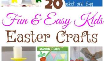 20 Fun & Easy Kids Easter Crafts Roundup