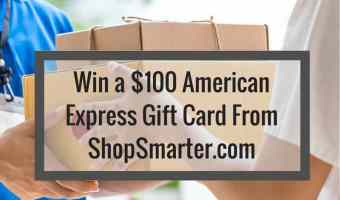 Win a $100 American Express Gift Card from ShopSmarter.com @ShopSmarterCom #ShopSmarter #2017Spring