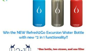 Refresh2Go Excursion Water Bottle Giveaway!! #2017Spring (ends 6/7)